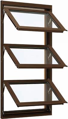YKKAP窓サッシ 装飾窓 フレミングJ[Low-E複層防犯ガラス] オーニング窓 [Low-E透明4mm+合わせガラス透明7mm]:[幅405mm×高970mm]