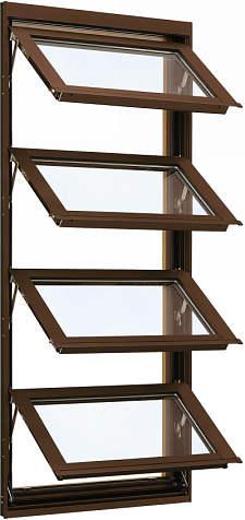 YKKAP窓サッシ 装飾窓 フレミングJ[Low-E複層防犯ガラス] オーニング窓 [Low-E透明5mm+合わせガラス透明7mm]:[幅780mm×高1370mm]