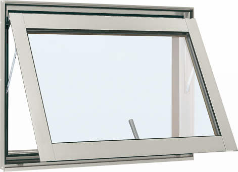YKKAP窓サッシ 装飾窓 フレミングJ[Low-E複層防犯ガラス] すべり出し窓 カムラッチ仕様Low-E透明5mm+合わせ透明7mm:[幅405mm×高370mm]