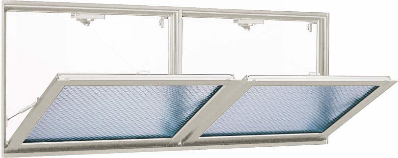 YKKAP窓サッシ 装飾窓 フレミングJ[Low-E複層防犯ガラス] 外倒し窓 排煙錠仕様Low-E透明3mm+合わせガラス型7mm:[幅1690mm×高570mm]