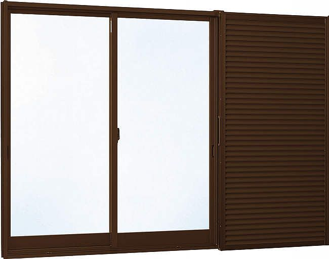 YKKAP窓サッシ 引き違い窓 エピソード[Low-E複層防音ガラス] 2枚建[雨戸付] 半外付型[Low-E透明4mm+透明3mm]:[幅1640mm×高970mm]
