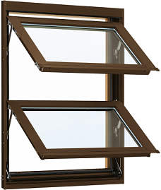 YKKAP窓サッシ 装飾窓 フレミングJ[複層防音ガラス] オーニング窓 [透明5mm+透明4mm]:[幅640mm×高770mm]