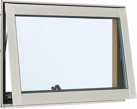 YKKAP窓サッシ 装飾窓 フレミングJ[複層防音ガラス] すべり出し窓 オペレーター仕様[透明4mm+透明3mm]:[幅780mm×高370mm]