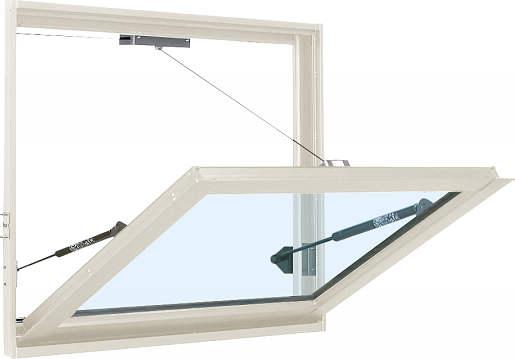 YKKAP窓サッシ 装飾窓 フレミングJ[複層防音ガラス] 外倒し窓 排煙錠仕様[透明4mm+透明3mm]:[幅780mm×高770mm]
