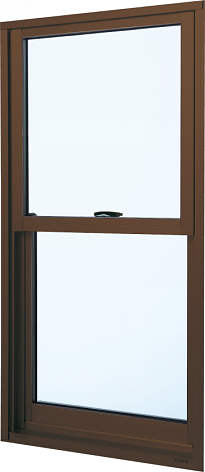 YKKAP窓サッシ 装飾窓 フレミングJ[複層防犯ガラス] 片上げ下げ窓 [型4mm+合わせ透明7mm]:[幅640mm×高1170mm]