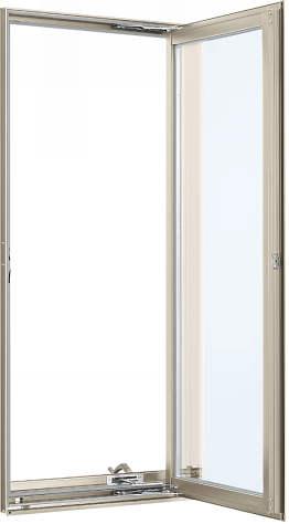 YKKAP窓サッシ 装飾窓 フレミングJ[複層防犯ガラス] たてすべり出し窓 オペレーター仕様[透明5mm+合わせ透明7mm]:[幅640mm×高770mm]