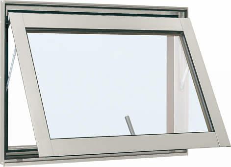 YKKAP窓サッシ 装飾窓 フレミングJ[複層防犯ガラス] すべり出し窓 カムラッチ仕様[透明5mm+合わせ透明7mm]:[幅780mm×高370mm]