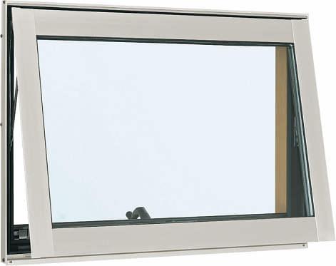 YKKAP窓サッシ 装飾窓 フレミングJ[複層防犯ガラス] すべり出し窓 オペレーター仕様[透明4mm+合わせ透明7mm]:[幅640mm×高970mm]