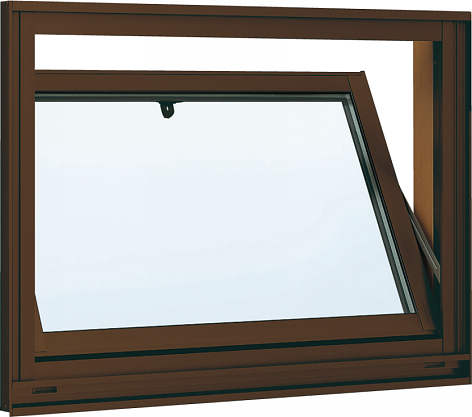 YKKAP窓サッシ 装飾窓 フレミングJ[複層防犯ガラス] 内倒し窓 [透明3mm+合わせ透明7mm]:[幅405mm×高370mm]