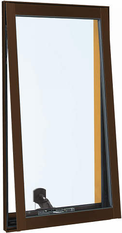YKKAP窓サッシ 装飾窓 フレミングJ[複層防犯ガラス] 高所用換気窓 [透明3mm+合わせ透明7mm]:[高窓用オペレータ付][幅405mm×高1170mm]