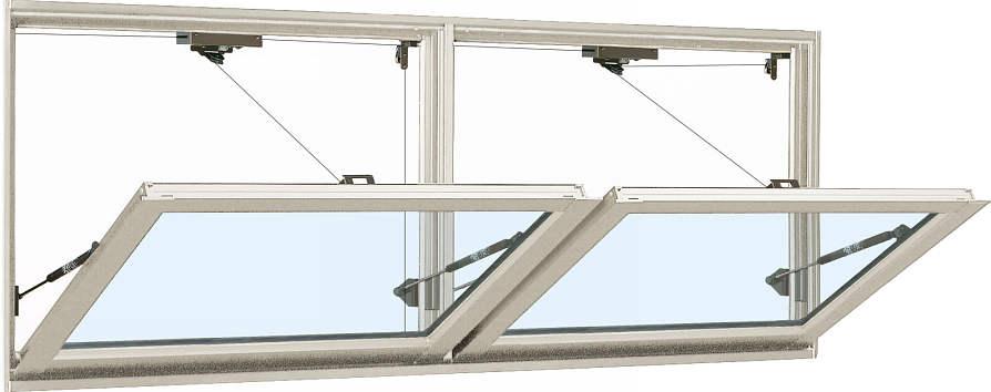 YKKAP窓サッシ 装飾窓 フレミングJ[複層防犯ガラス] 外倒し窓 排煙錠仕様[透明3mm+合わせ透明7mm]:[幅1235mm×高570mm]