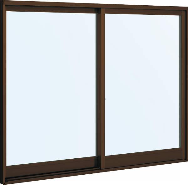 [福井県内のみ販売商品]YKKAP 引き違い窓 フレミングJ[Low-E複層防犯ガラス] 2枚建 半外付型[Low-E透明4mm+合わせ透明7mm]:[幅2470mm×高1370mm]