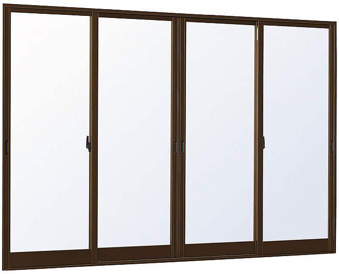 【即納!最大半額!】 内付型[Low-E透明4mm+合わせ透明7mm]:[幅3700mm×高2030mm]【アルミサッシ】【サッシ】【遮熱ガラス】【断熱ガラス】【合わせガラス】:ノース&ウエスト YKKAP窓サッシ 4枚建 引き違い窓 フレミングJ[Low-E複層防犯ガラス]-木材・建築資材・設備