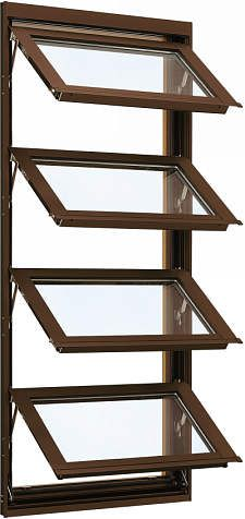 YKKAP窓サッシ 装飾窓 エピソード[Low-E複層防音ガラス] オーニング窓 [Low-E透明4mm+透明3mm]:[幅780mm×高1370mm]