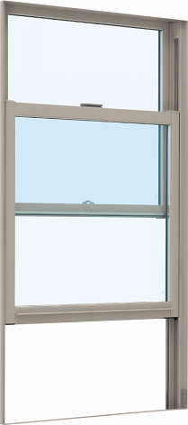 YKKAP窓サッシ 装飾窓 エピソード[Low-E複層防犯ガラス] 片上げ下げ窓 [Low-E透明3mm+合わせガラス型7mm]:[幅300mm×高1370mm]