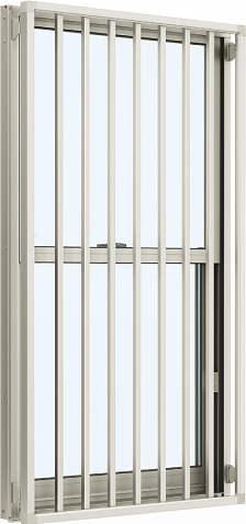 YKKAP窓サッシ 装飾窓 エピソード[Low-E複層防犯ガラス] 面格子付片上げ下げ窓 たて格子[Low-E透明5mm+合わせ型7mm]:[幅300mm×高970mm]