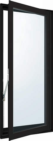 YKKAP窓サッシ 装飾窓 エピソード[Low-E複層防犯ガラス] 高所用たてすべり出し窓 [Low-E透明3mm+合わせガラス透明7mm]:[幅300mm×高770mm]