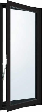YKKAP窓サッシ 装飾窓 エピソード[Low-E複層防犯ガラス] 高所用たてすべり出し窓 [Low-E透明5mm+合わせガラス型7mm]:[幅300mm×高1170mm]