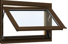 YKKAP窓サッシ 装飾窓 エピソード[Low-E複層防犯ガラス] オーニング窓 [Low-E透明3mm+合わせガラス透明7mm]:[幅405mm×高370mm]
