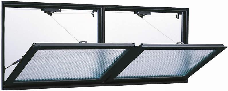 YKKAP窓サッシ 装飾窓 エピソード[Low-E複層防犯ガラス] 外倒し窓 排煙錠仕様Low-E透明3mm+合わせガラス型7mm:[幅1690mm×高570mm]