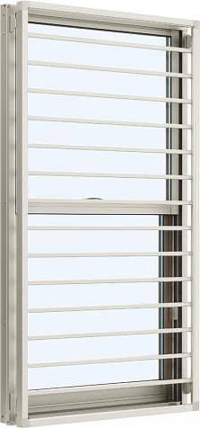 YKKAP窓サッシ 装飾窓 エピソード[複層防音ガラス] 面格子付片上げ下げ窓 横格子[透明5mm+透明3mm]:[幅405mm×高970mm]