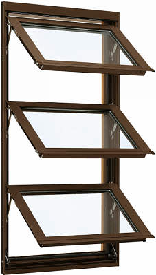 YKKAP窓サッシ 装飾窓 エピソード[複層防音ガラス] オーニング窓 [透明5mm+透明4mm]:[幅730mm×高1170mm]