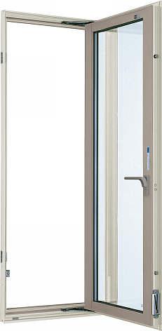 YKKAP窓サッシ 装飾窓 エピソード[複層防犯ガラス] たてすべり出し窓 グレモン仕様[透明5mm+合わせ透明7mm]:[幅640mm×高770mm]
