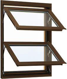 YKKAP窓サッシ 装飾窓 エピソード[複層防犯ガラス] オーニング窓 [透明4mm+合わせ透明7mm]:[幅640mm×高770mm]