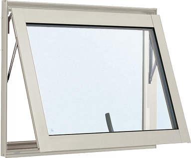YKKAP窓サッシ 装飾窓 エピソード[複層防犯ガラス] すべり出し窓 カムラッチ仕様[透明4mm+合わせ透明7mm]:[幅730mm×高370mm]