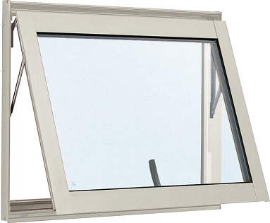 YKKAP窓サッシ 装飾窓 エピソード[複層防犯ガラス] すべり出し窓 カムラッチ仕様[透明3mm+合わせ透明7mm]:[幅640mm×高570mm]