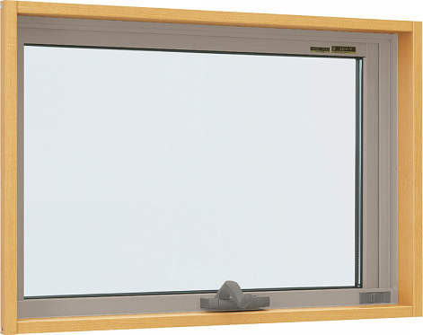 YKKAP窓サッシ 装飾窓 エピソード[複層防犯ガラス] すべり出し窓 オペレーター仕様[透明5mm+合わせ透明7mm]:[幅730mm×高370mm]