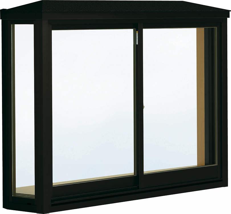 【保存版】 出窓 台形出窓[標準屋根] アルミ樹脂複合障子[Low-E透明4mm+透明3mm]:[幅1640mm×高1170mm]:ノース&ウエスト 居室用[出窓300][Low-E複層防音ガラス] YKKAP窓サッシ-木材・建築資材・設備