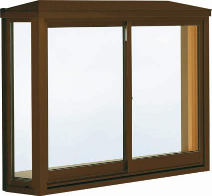 【感謝価格】 YKKAP窓サッシ 居室用[出窓300][Low-E複層防音ガラス] アルミ樹脂複合障子[Low-E透明5mm+透明3mm]:[幅2600mm×高1370mm]:ノース&ウエスト 台形出窓[雨音軽減屋根] 出窓-木材・建築資材・設備