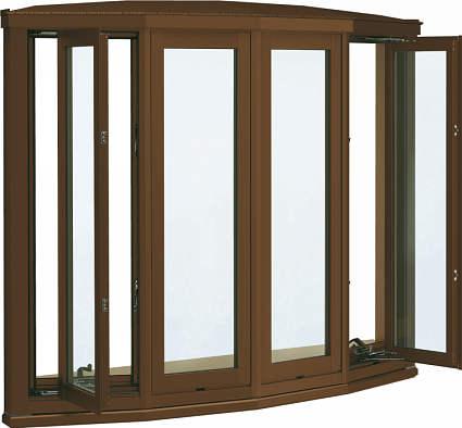 超人気 アルミ樹脂障子Low-E透明4mm+合わせ透明7mm:[幅1690mm×高970mm]:ノース&ウエスト 弓型出窓[標準屋根] 出窓 YKKAP窓サッシ 居室用[出窓300][Low-E複層防犯ガラス]-木材・建築資材・設備