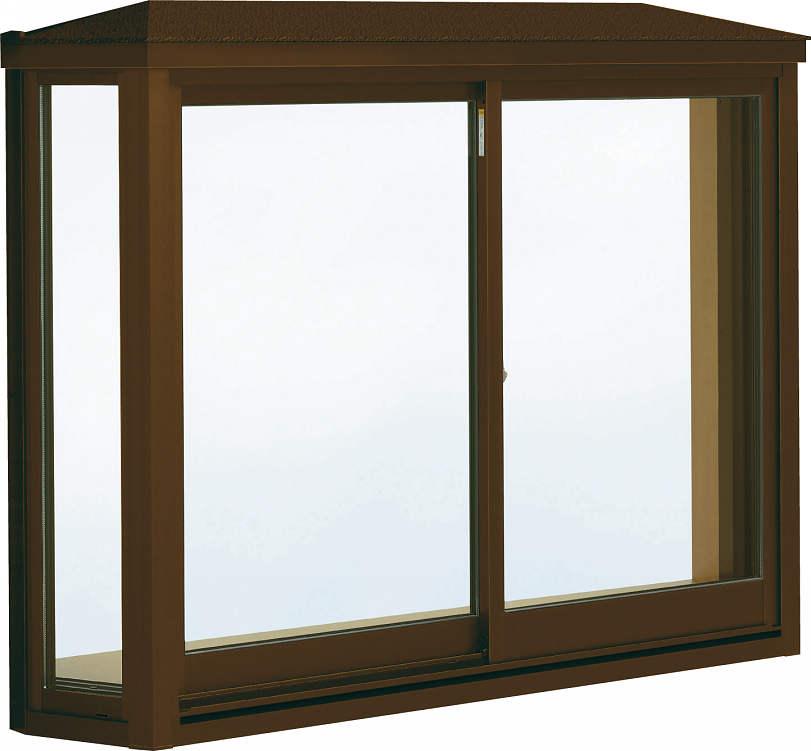 YKKAP窓サッシ 出窓 居室用[出窓300][Low-E複層防犯ガラス] 台形出窓[標準屋根] アルミ樹脂障子Low-E透明5mm+合わせ透明7mm:[幅1235mm×高970mm]