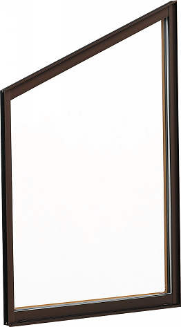 YKKAP窓サッシ 装飾窓 エピソード[Low-E複層防犯ガラス] 台形FIX窓 5寸勾配[Low-E透明5mm+合わせ透明7mm]:[幅730mm×高770mm]
