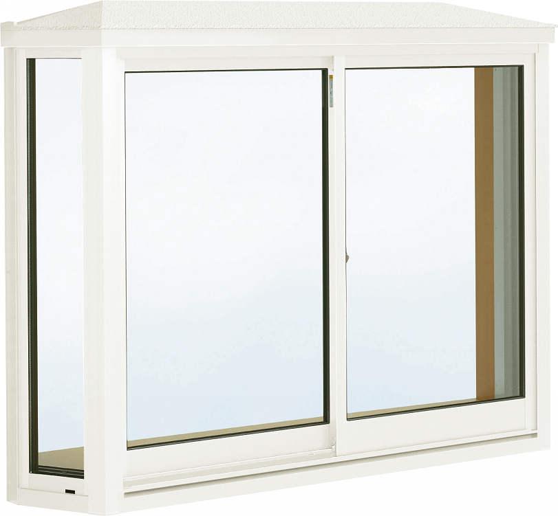 【大注目】 アルミ樹脂障子[型4mm+合わせ透明7mm]:[幅1690mm×高970mm]:ノース&ウエスト 台形出窓[雨音軽減屋根] 出窓 YKKAP窓サッシ 居室用[出窓300][複層防犯ガラス]-木材・建築資材・設備