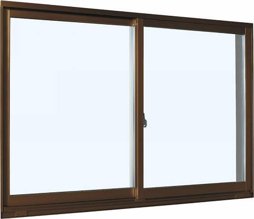 YKKAP窓サッシ 引き違い窓 エピソード[Low-E複層防犯ガラス] 2枚建 半外付型[Low-E透明3mm+合わせ透明7mm]:[幅1370mm×高570mm]