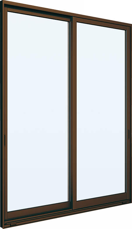 YKKAP窓サッシ 引き違い窓 エピソード[Low-E複層防犯ガラス] 2枚建 半外付型[Low-E透明4mm+合わせ型7mm]:[幅1235mm×高1830mm]