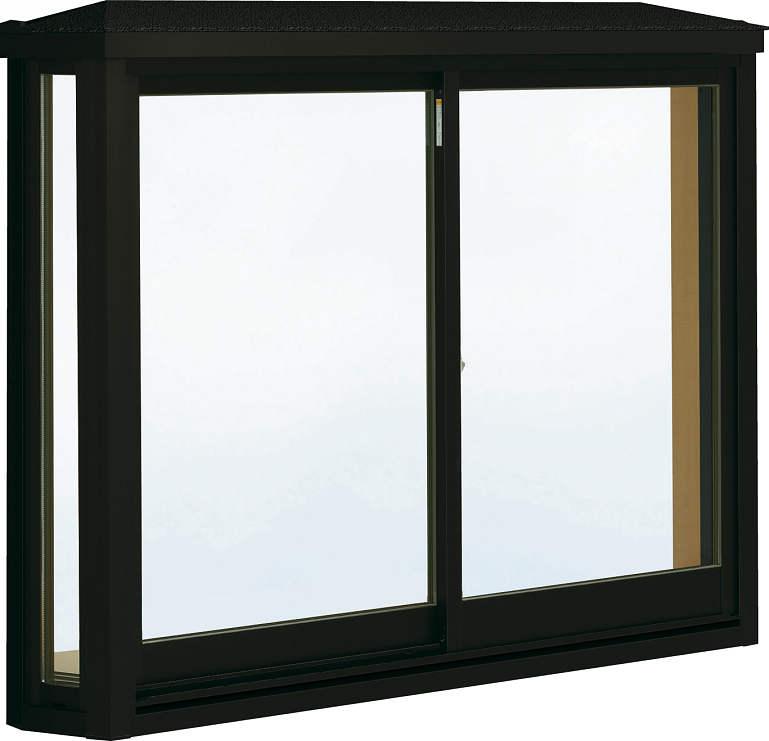 格安人気 台形出窓[標準屋根] アルミ樹脂障子Low-E透明3mm+合わせ透明7mm:[幅1900mm×高1170mm]:ノース&ウエスト 居室用[出窓220][Low-E複層防犯ガラス] 出窓 YKKAP窓サッシ-木材・建築資材・設備