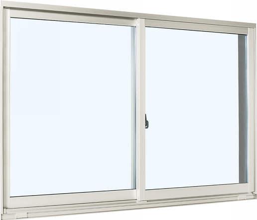 YKKAP窓サッシ 引き違い窓 エピソード[Low-E複層防犯ガラス] 2枚建 外付型[Low-E透明4mm+合わせ型7mm]:[幅1267mm×高503mm]