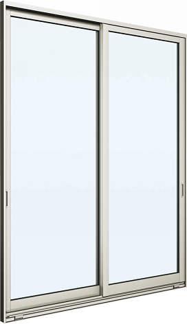 [福井県内のみ販売商品]YKKAP 引き違い窓 エピソード[Low-E複層防犯ガラス] 2枚建 外付型[Low-E透明3mm+合わせ型7mm]:[幅2632mm×高1803mm]