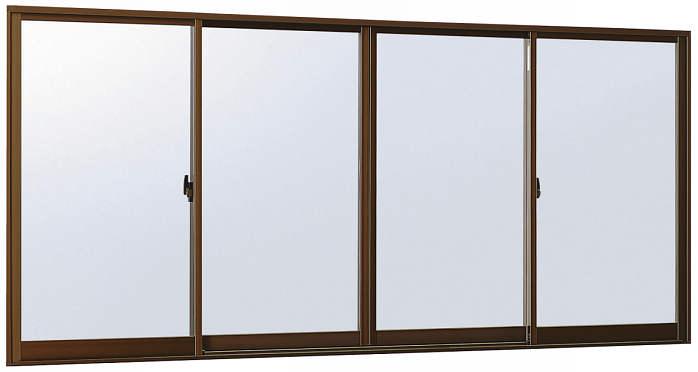 YKKAP窓サッシ 引き違い窓 エピソード[Low-E複層防犯ガラス] 4枚建 半外付型[Low-E透明3mm+合わせ透明7mm]:[幅2870mm×高970mm]