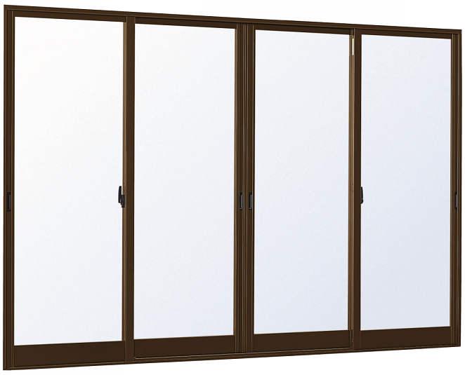 YKKAP窓サッシ 引き違い窓 エピソード[Low-E複層防犯ガラス] 4枚建 半外付型[Low-E透明4mm+合わせ型7mm]:[幅2600mm×高2030mm]