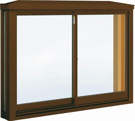 YKKAP窓サッシ 出窓 居室用[出窓220][Low-E複層防犯ガラス] 角型出窓[標準屋根] アルミ樹脂障子Low-E透明5mm+合わせ型7mm:[幅1235mm×高970mm]