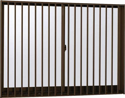 YKKAP窓サッシ引き違い窓エピソード[Low-E複層防犯ガラス]2枚建[面格子付]縦格子[半外付][透明4mm+合わせ型7mm]:[幅1235mm×高970mm]