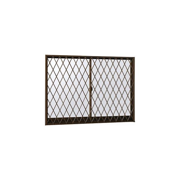 YKKAP窓サッシ 引き違い窓 エピソード[Low-E複層防犯ガラス] 2枚建[面格子付] ラチス格子[半外付][透明3mm+合わせ型7mm]:[幅1690mm×高570mm]