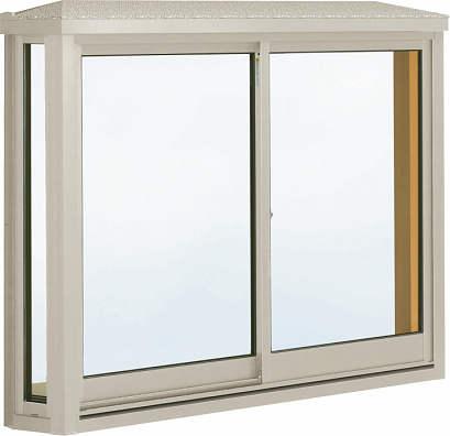 YKKAP窓サッシ 出窓 居室用[出窓220][複層防音ガラス] 台形出窓[標準屋根] アルミ樹脂複合障子[透明4mm+透明3mm]:[幅1780mm×高1170mm]
