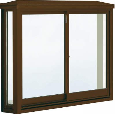 YKKAP窓サッシ 出窓 居室用 出窓220 複層防犯ガラス 台形出窓 透明5mm+合わせ透明7mm 雨音軽減屋根 アルミ樹脂障子 訳あり 幅1690mm×高970mm : 新生活