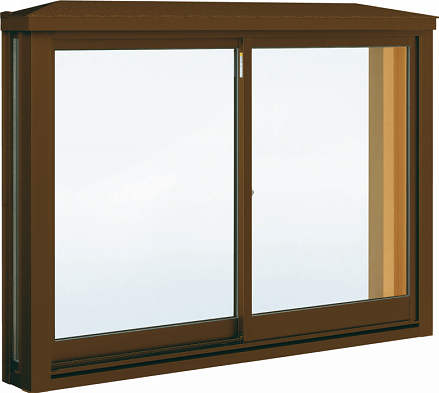 YKKAP窓サッシ 出窓 居室用[出窓220][複層防犯ガラス] 角型出窓[雨音軽減屋根] アルミ樹脂障子[型4mm+合わせ透明7mm]:[幅1235mm×高970mm]